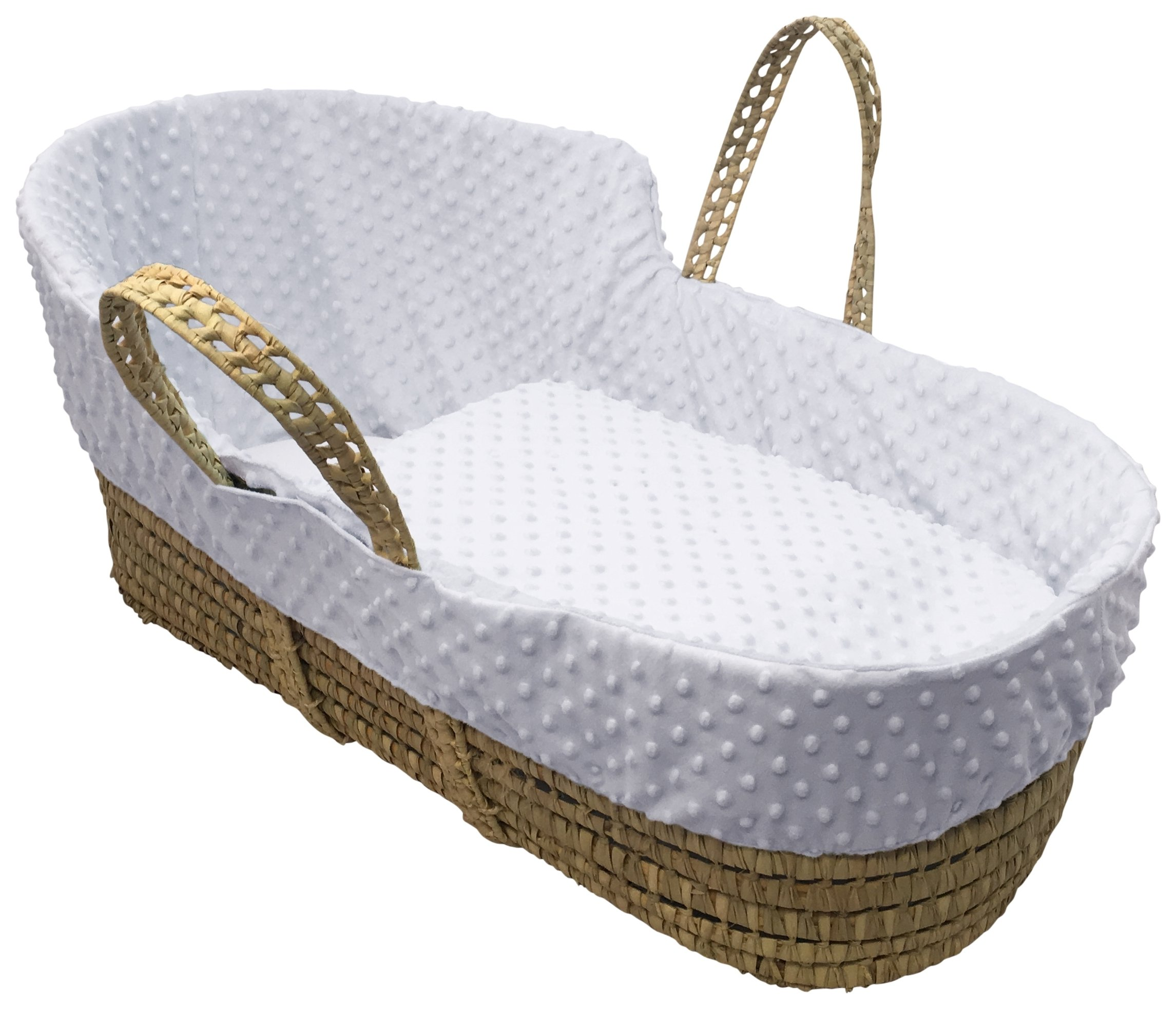 Clair de Lune White Dimple High Top Palm Moses Basket