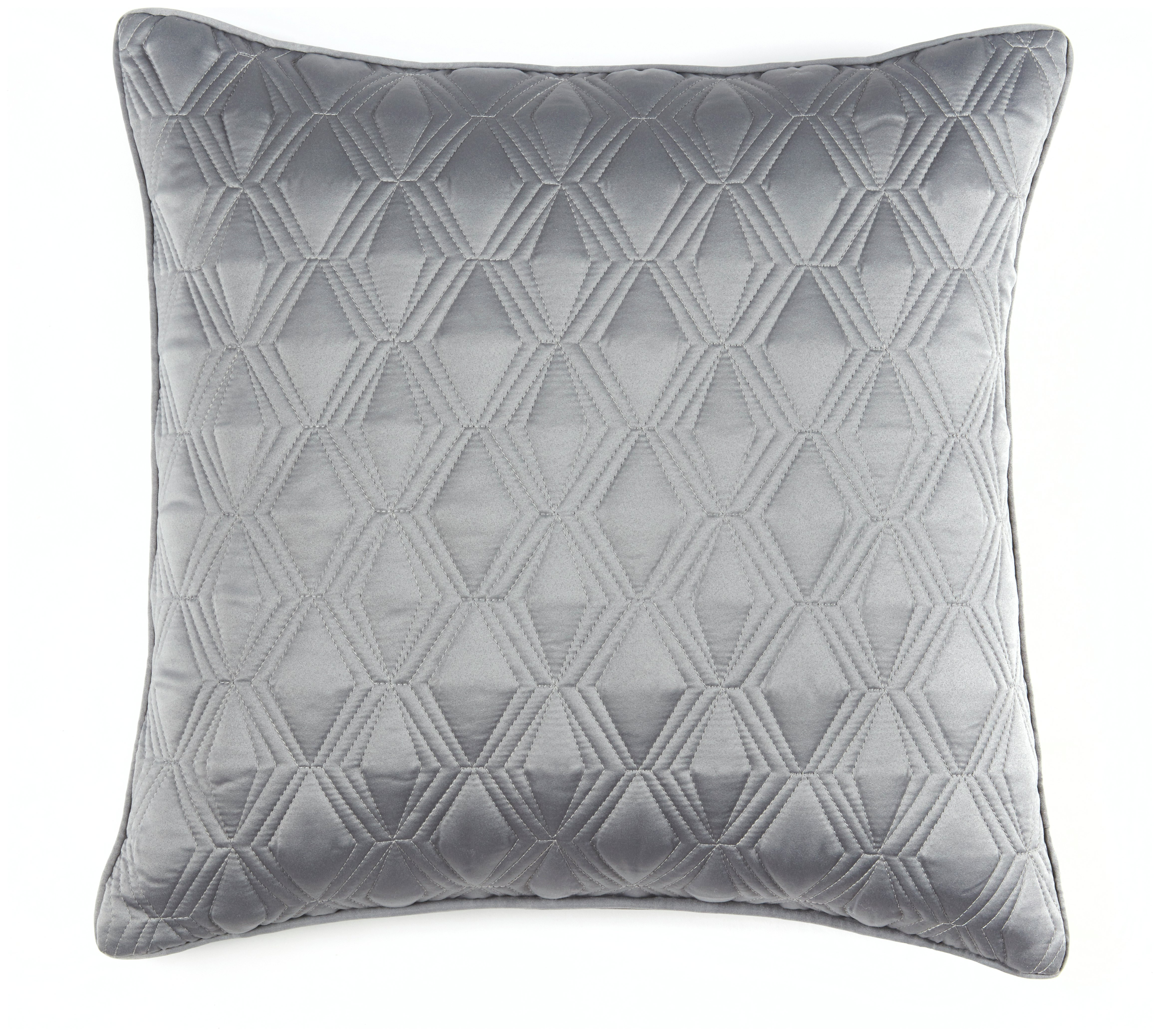 julian charles blossom quilted cushion silver gay. Black Bedroom Furniture Sets. Home Design Ideas