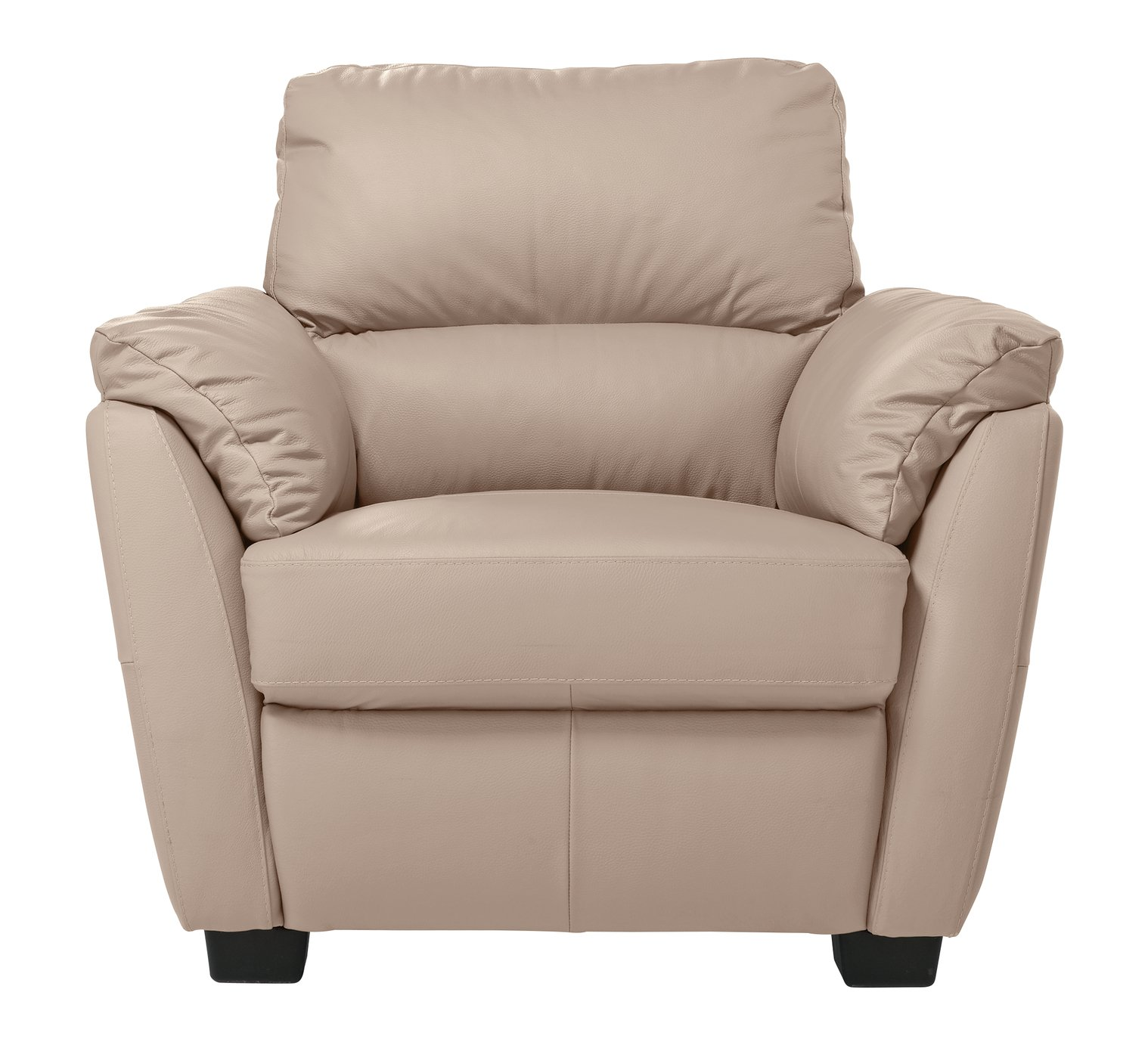 Argos Home Trieste Leather Armchair - Taupe