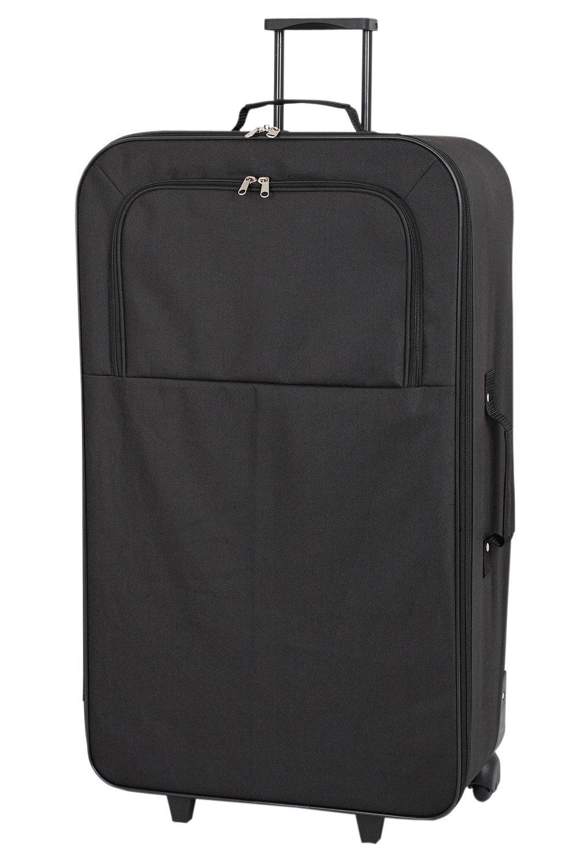 Image of Go Explore 4 piece Wheeled Soft Luggage Set - Black