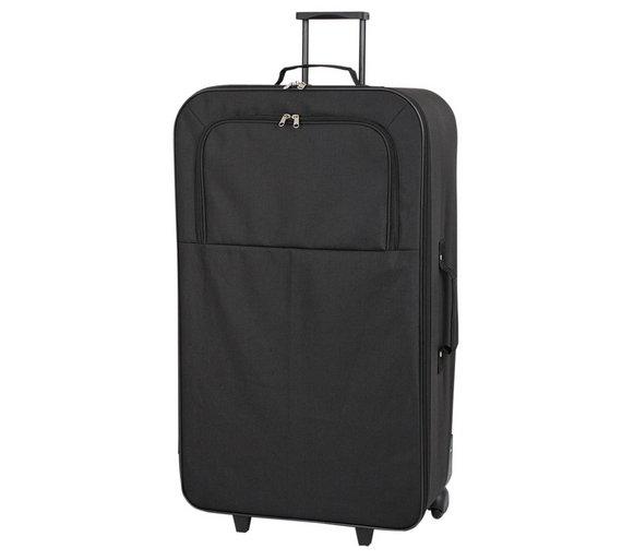 Buy Go Explore 4 piece Wheeled Soft Luggage Set - Black at Argos ...