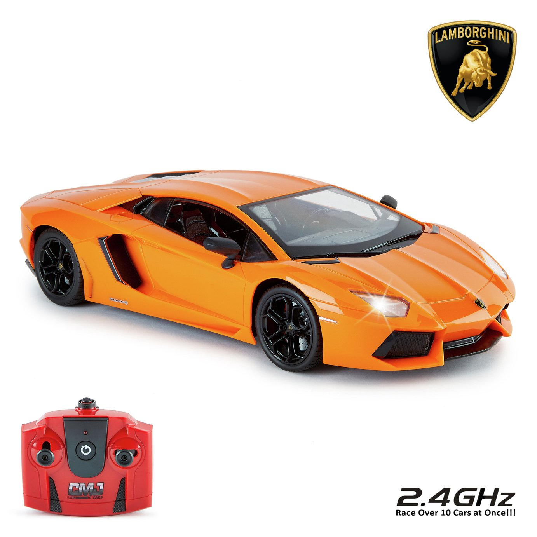 Lamborghini Aventador 1:14 Remote Control Car   Orange