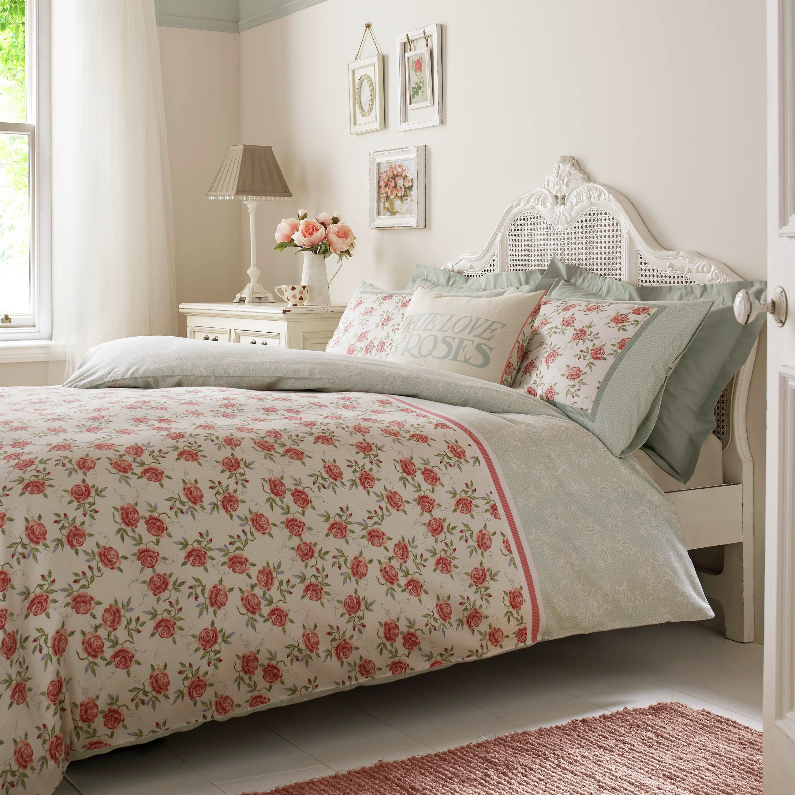 emma bridgewater striped rose bedding set  kingsize.