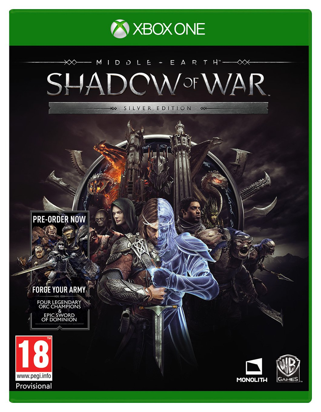 Middle-Earth: Shadow of War Silver Edn Xbox One Pre-Order