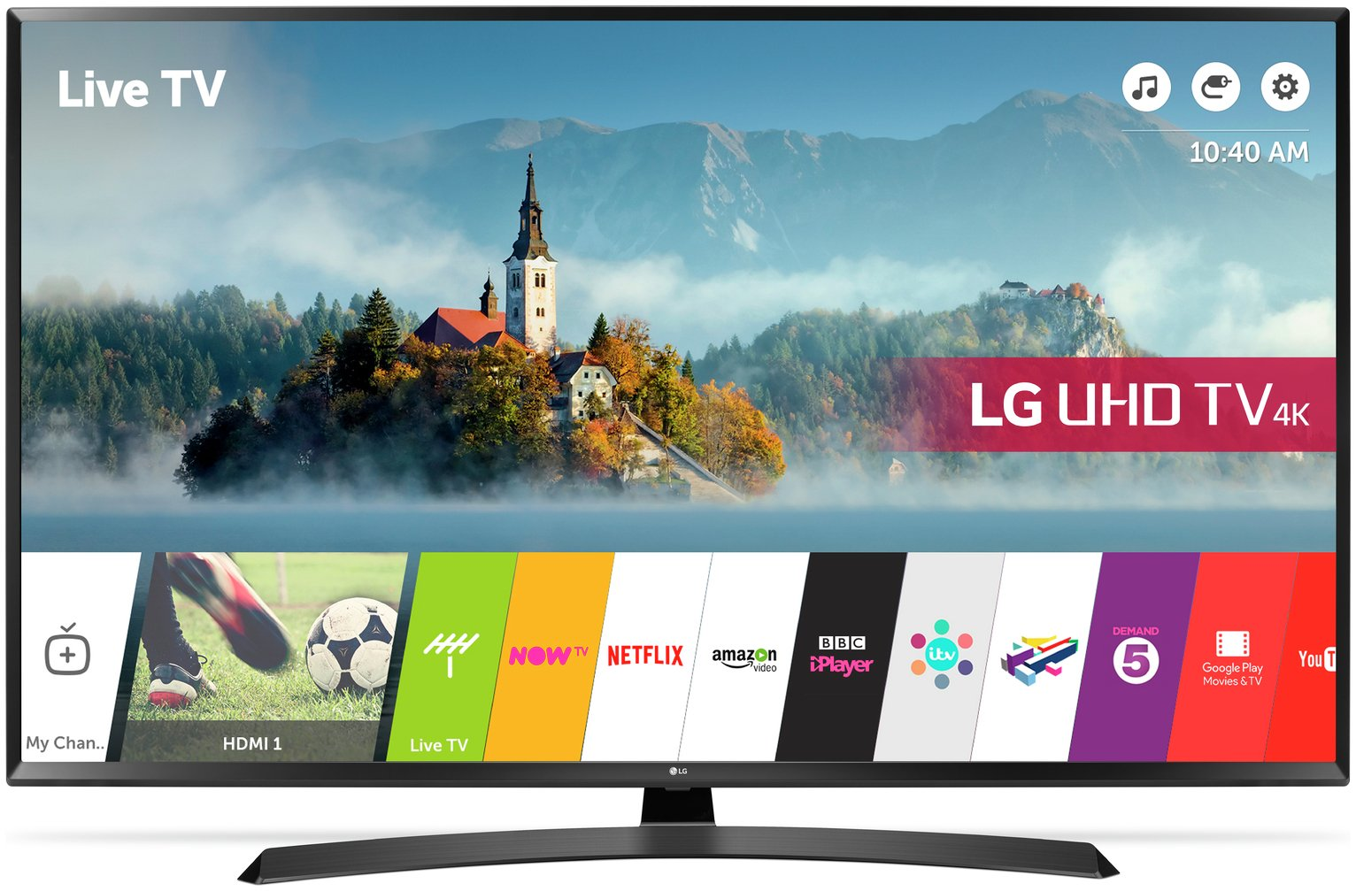 LG 49UJ635V 49 Inch Smart 4K Ultra HD TV with HDR.