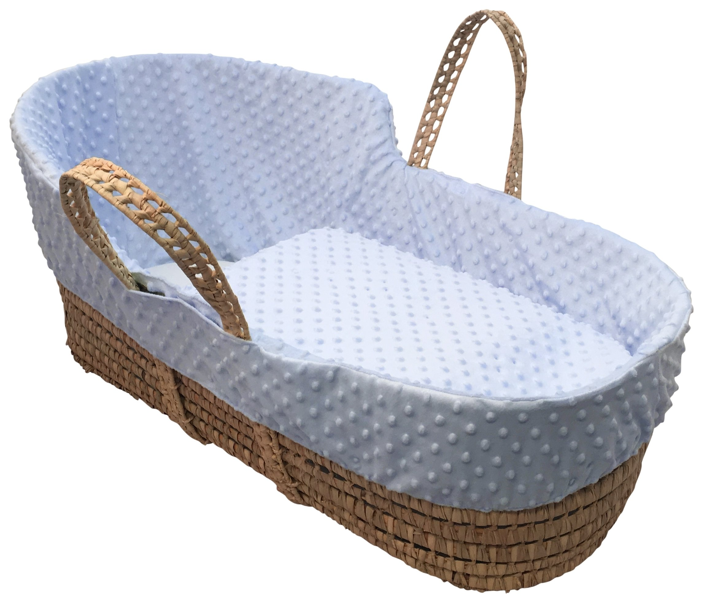 Clair de Lune Blue Dimple High Top Palm Moses Basket