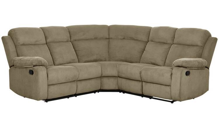 Buy Argos Home New Bradley Fabric Recliner Corner Sofa - Mink ...