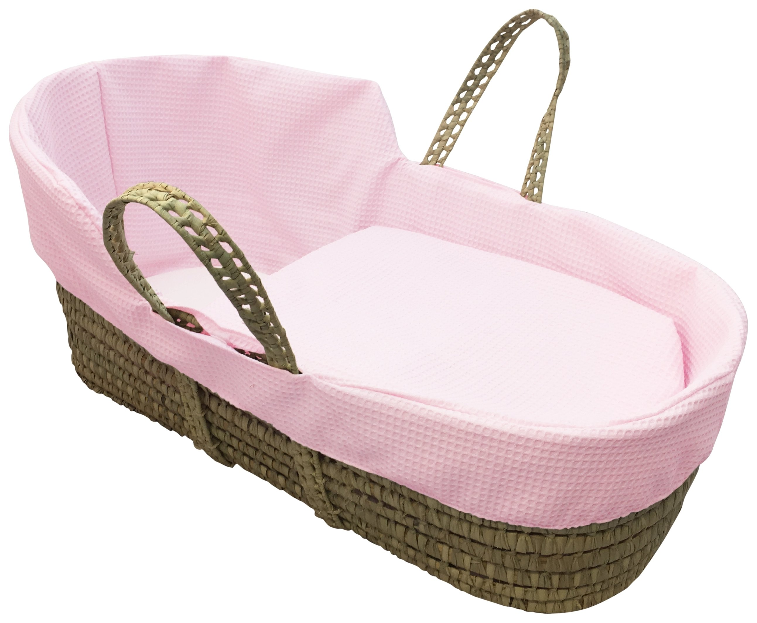 Clair de Lune Pink Dimple High Top Palm Moses Basket