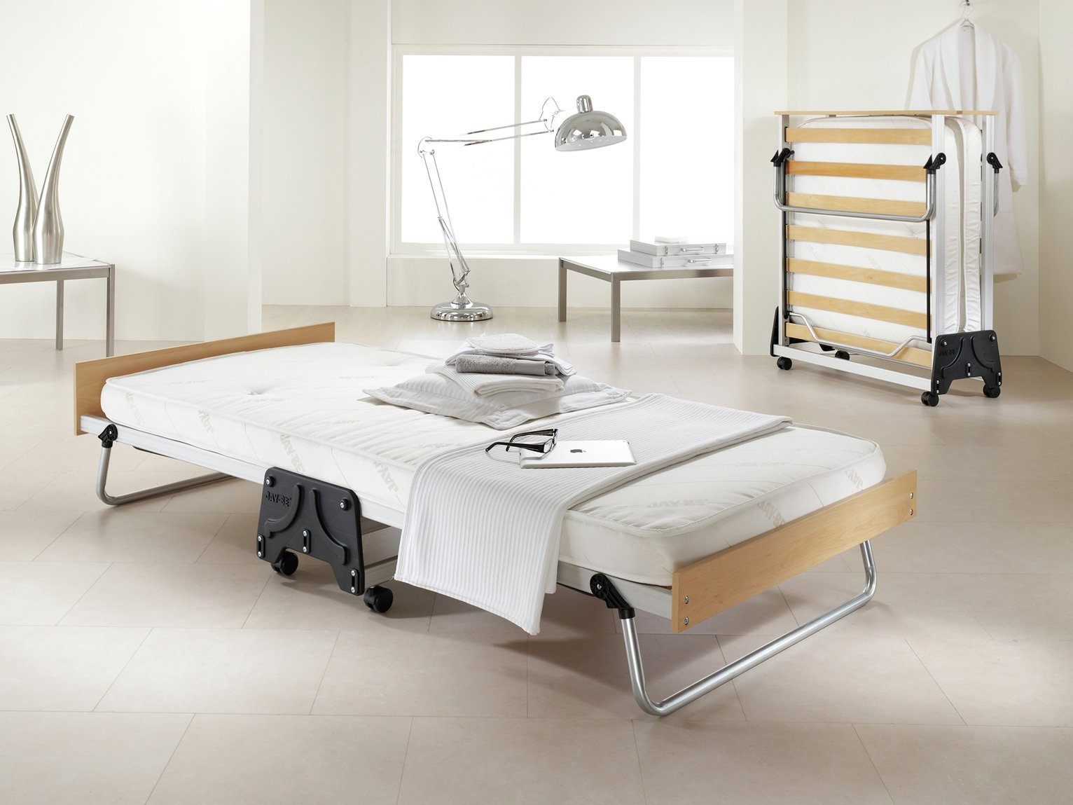 Jay-Be J-Bed Folding Guest Bed - Single - Fibre Topped Mattress