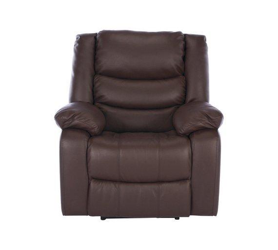Buy Argos Home Leather Massage Power Recliner Chair Dark