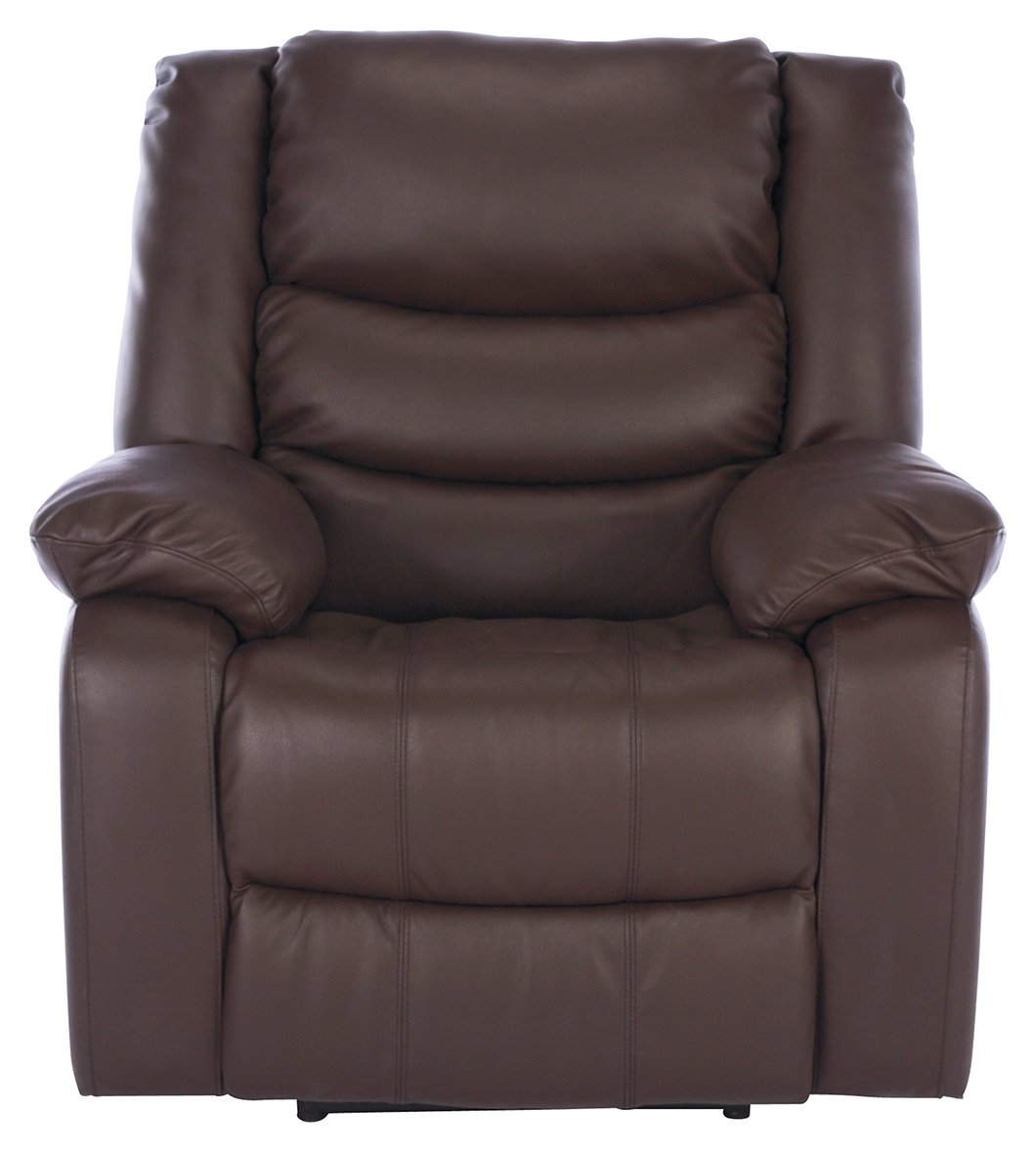 Argos Home Leather Massage Power Recliner Chair - Dark Brown