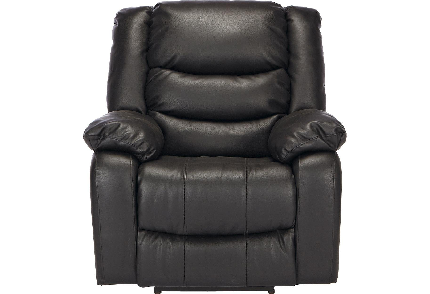 buy collection leather power massage recliner chair - black at