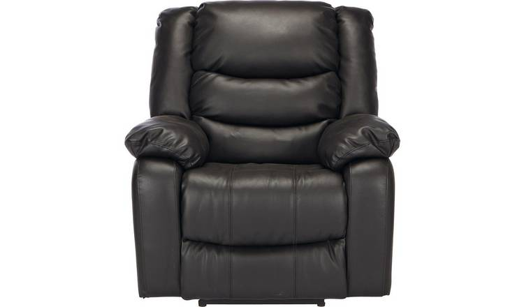 Fabulous Buy Argos Home Leather Massage Power Recliner Chair Black Armchairs And Chairs Argos Unemploymentrelief Wooden Chair Designs For Living Room Unemploymentrelieforg