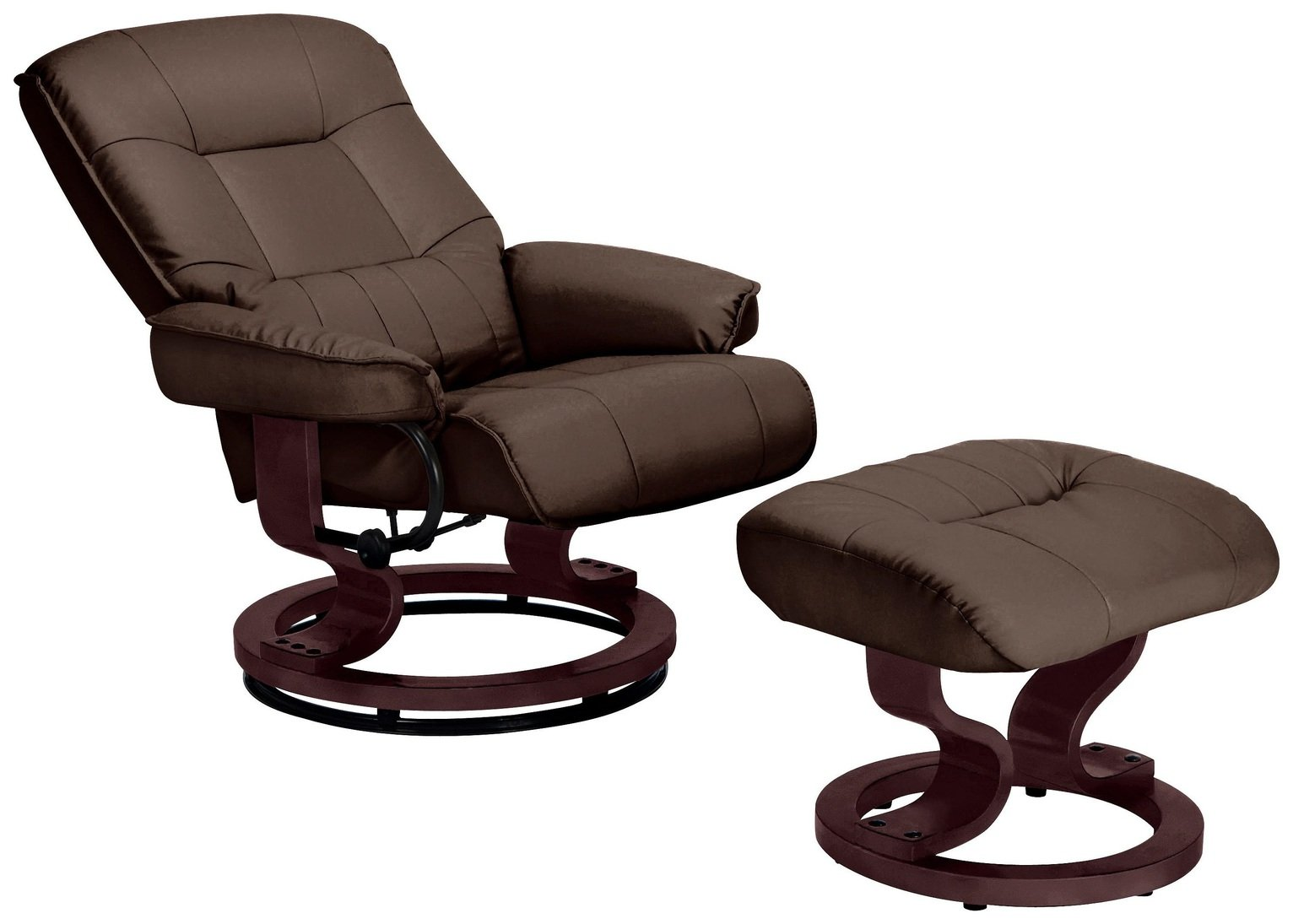 Collection Santos Recliner Chair and Footstool - Chocolate  sc 1 st  Argos & Buy Collection Santos Recliner Chair and Footstool - Chocolate at ... islam-shia.org