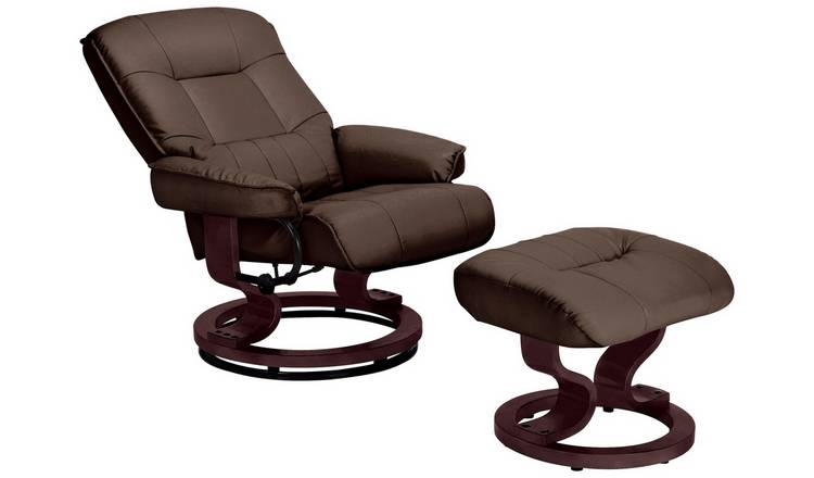 Pleasing Buy Argos Home Santos Recliner Chair And Footstool Dark Brown Armchairs And Chairs Argos Evergreenethics Interior Chair Design Evergreenethicsorg
