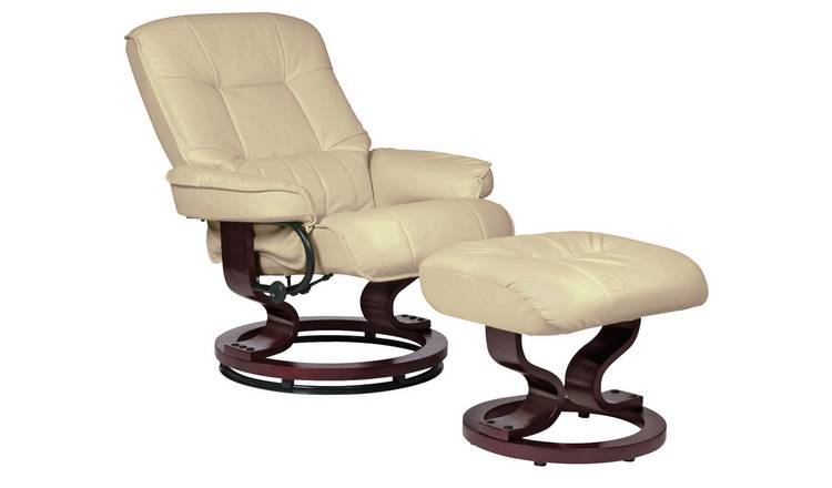 Admirable Buy Argos Home Santos Recliner Chair And Footstool Ivory Armchairs And Chairs Argos Caraccident5 Cool Chair Designs And Ideas Caraccident5Info