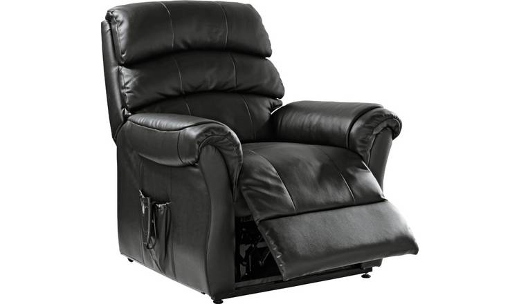 Argos Home Warwick Leather Power Recliner Chair - Black