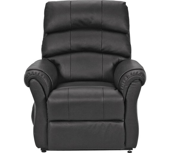buy argos home warwick leather powerlift recliner chair black