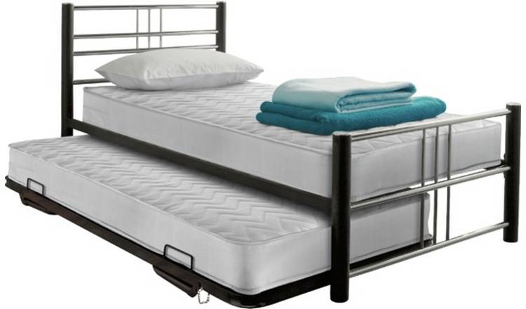 Argos Home Atlas Metal Guest Bed - Black