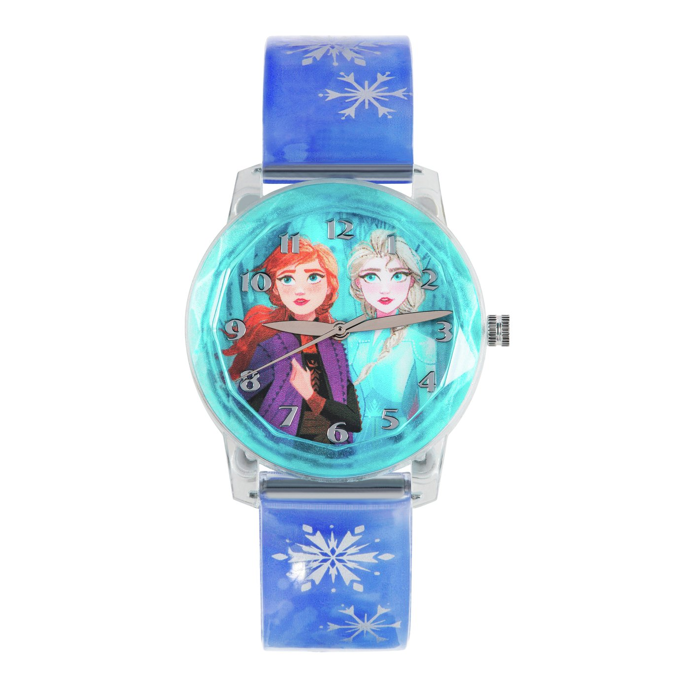 Disney Frozen 2 Snowflake Purple Plastic Strap Watch