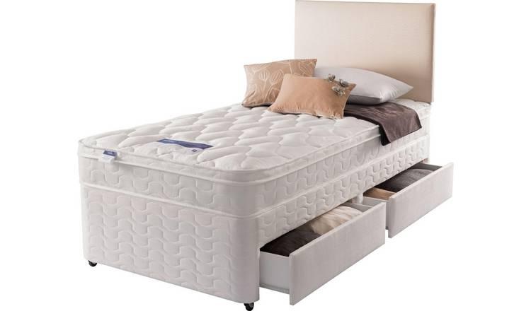 Pleasant Buy Silentnight Auckland Luxury 2 Drawer Divan Single Divan Beds Argos Home Remodeling Inspirations Cosmcuboardxyz