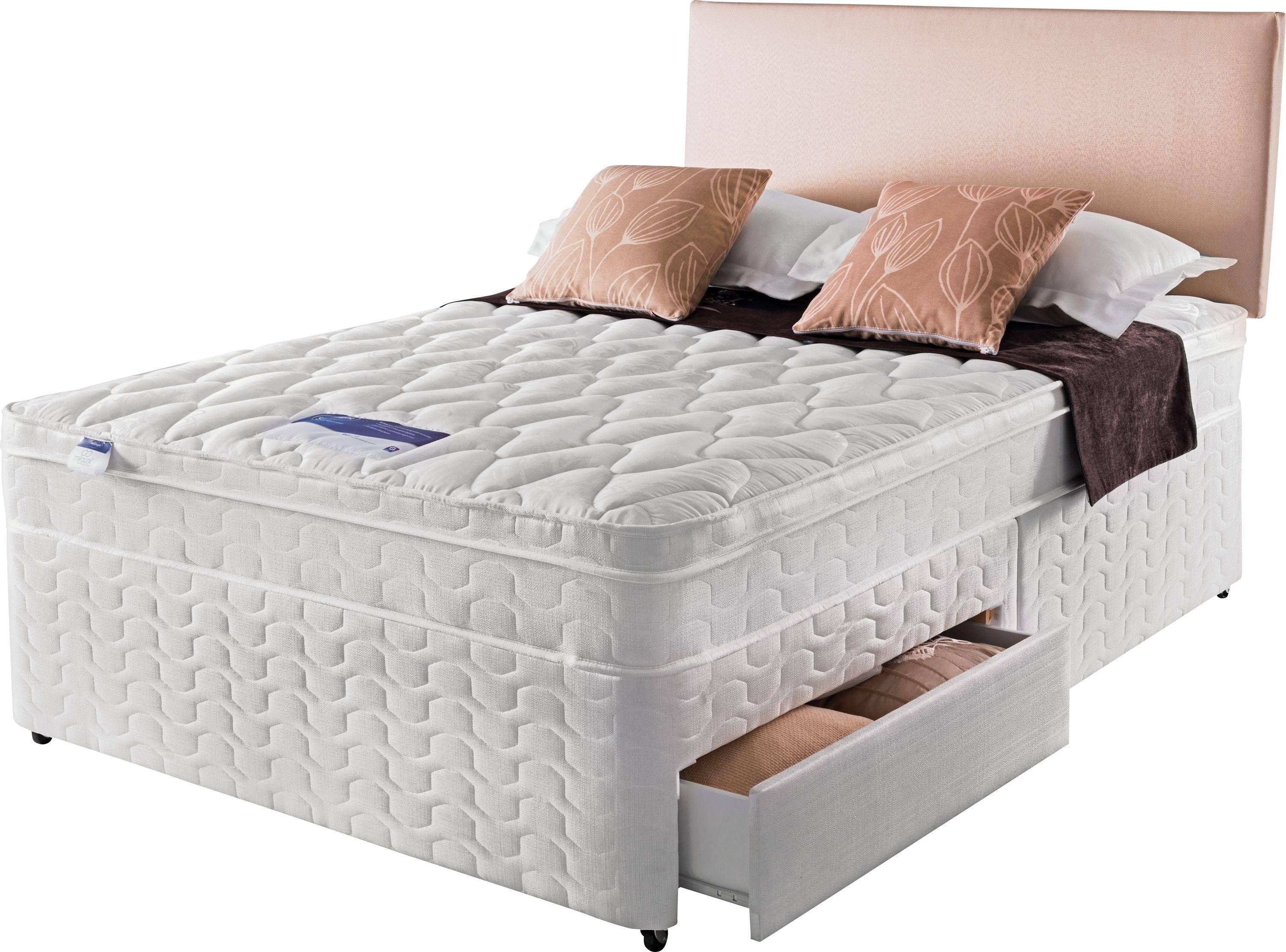 Silentnight Auckland Luxury Small Double Divan Bed 4 Drw