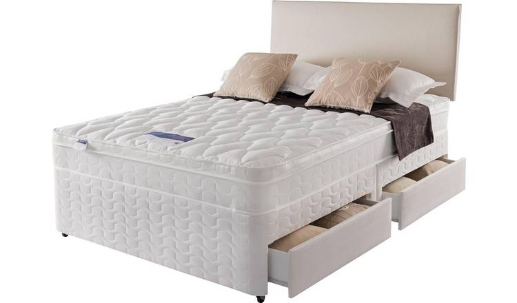 Silentnight Auckland Luxury 4 Drawer Kingsize Divan - White