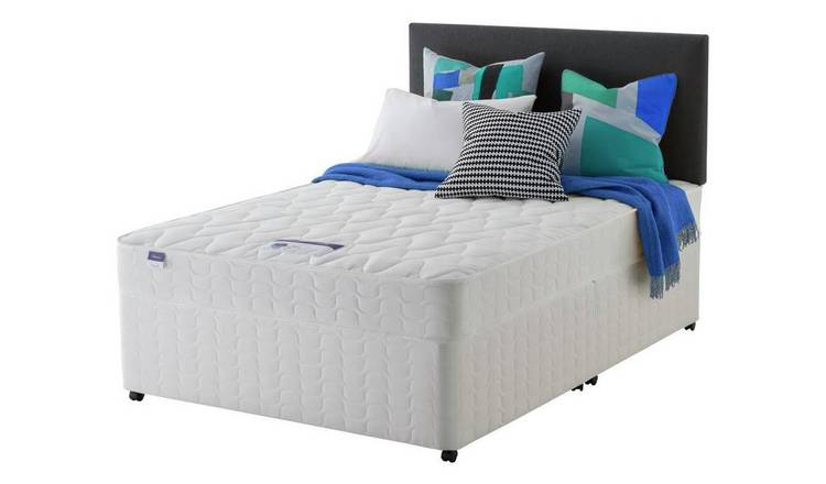 Silentnight Travis Miracoil Double Divan Bed - White