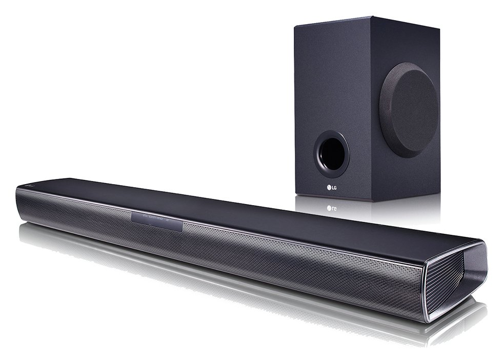 LG SJ2 160W 2.1Ch Bluetooth Sound Bar with Wireless Sub