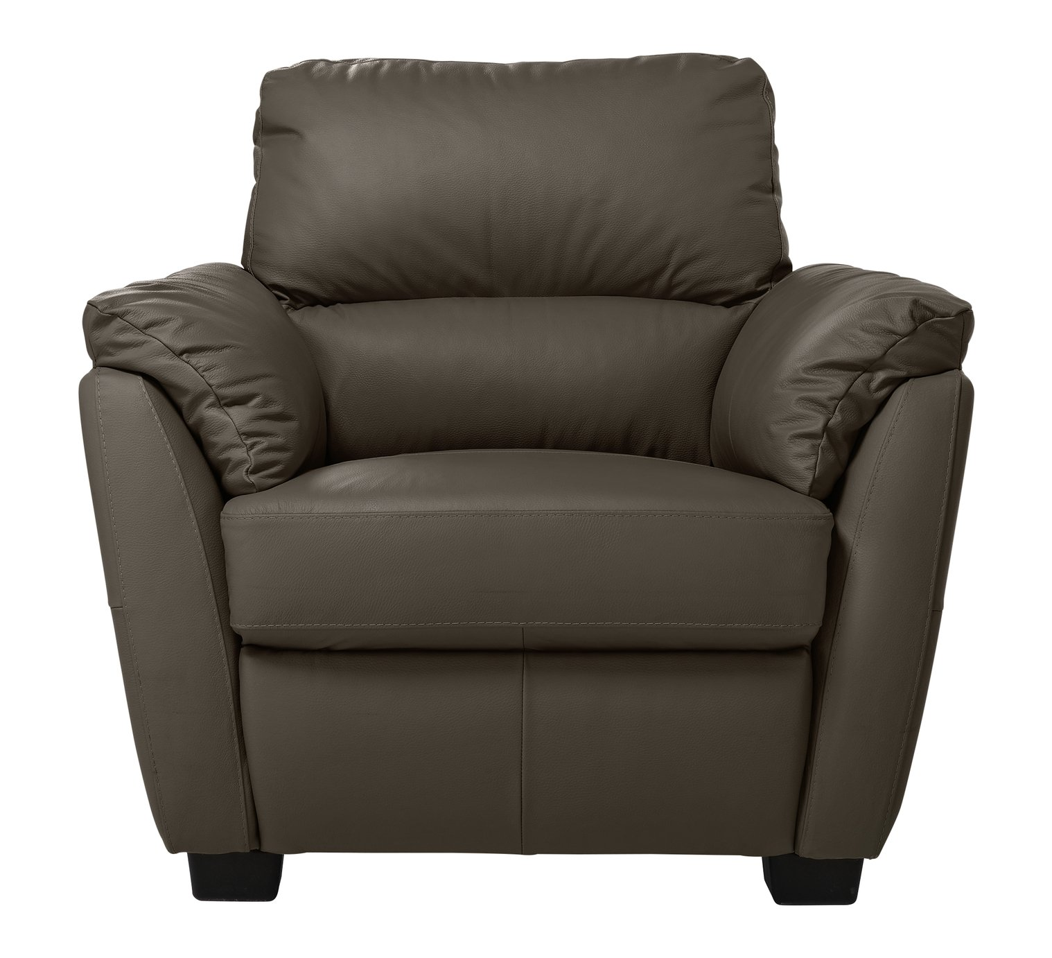 Argos Home Trieste Leather Armchair - Dark Brown