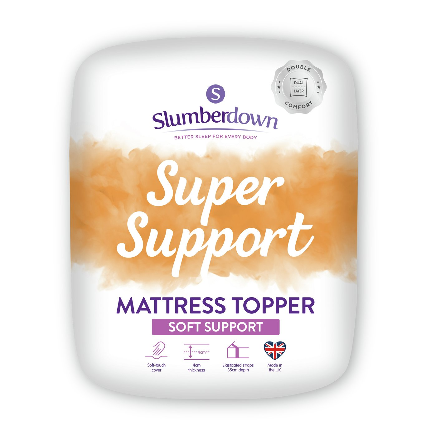 Slumberdown Support 5cm Mattress Topper - Single