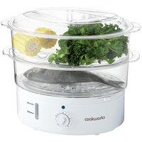 Cookworks 2 Bowl Steamer - White