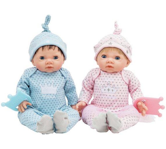 Chad valley tiny treasures twin babies bumper set