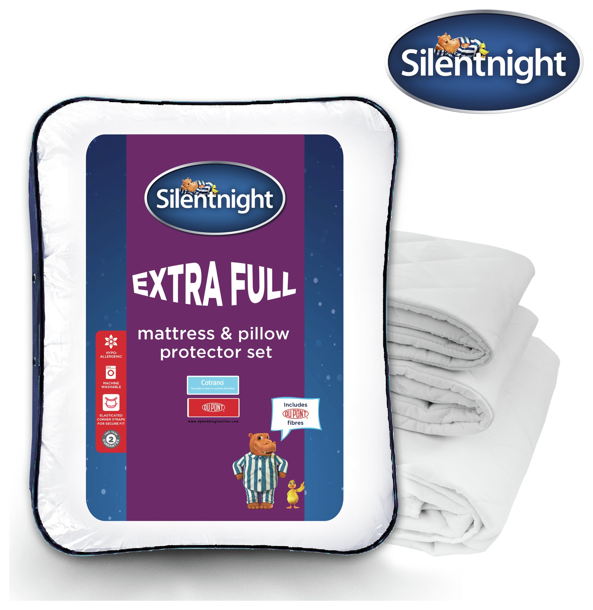 silentnight so full mattress and pillow protector  single
