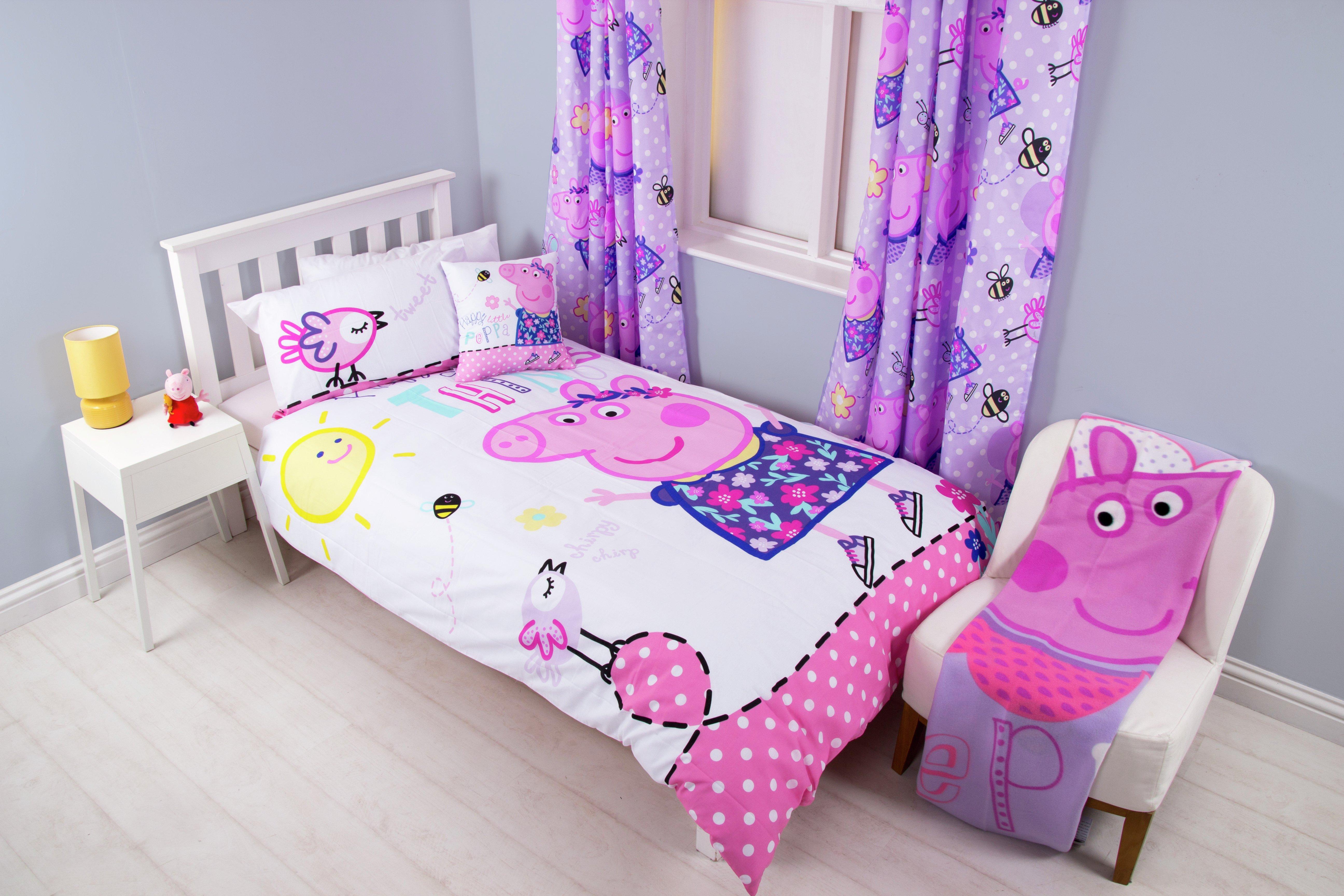 peppa pig happy bedroom set  single