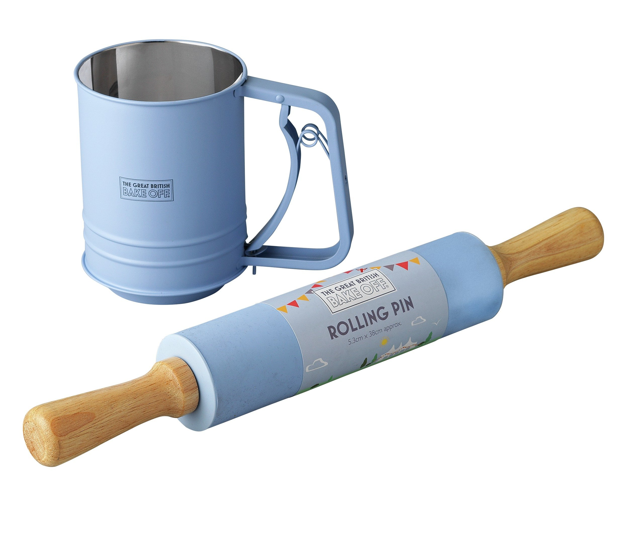 Great British Bake Off Rolling Pin and Flour Sifter