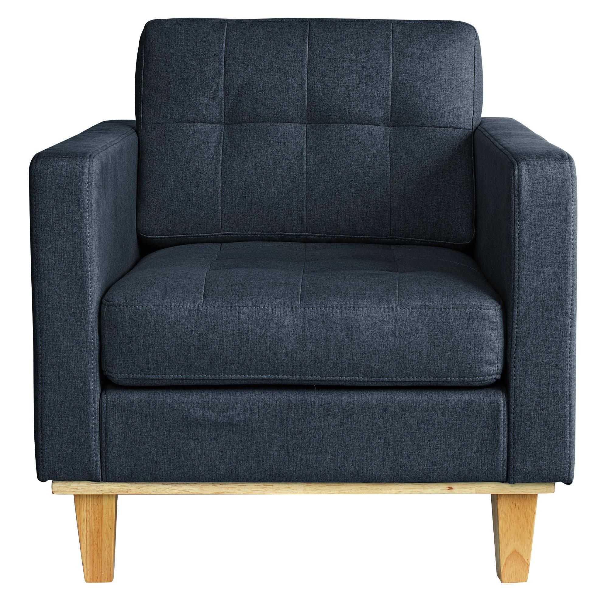 Argos Home Aliso Fabric Chair - Denim Blue
