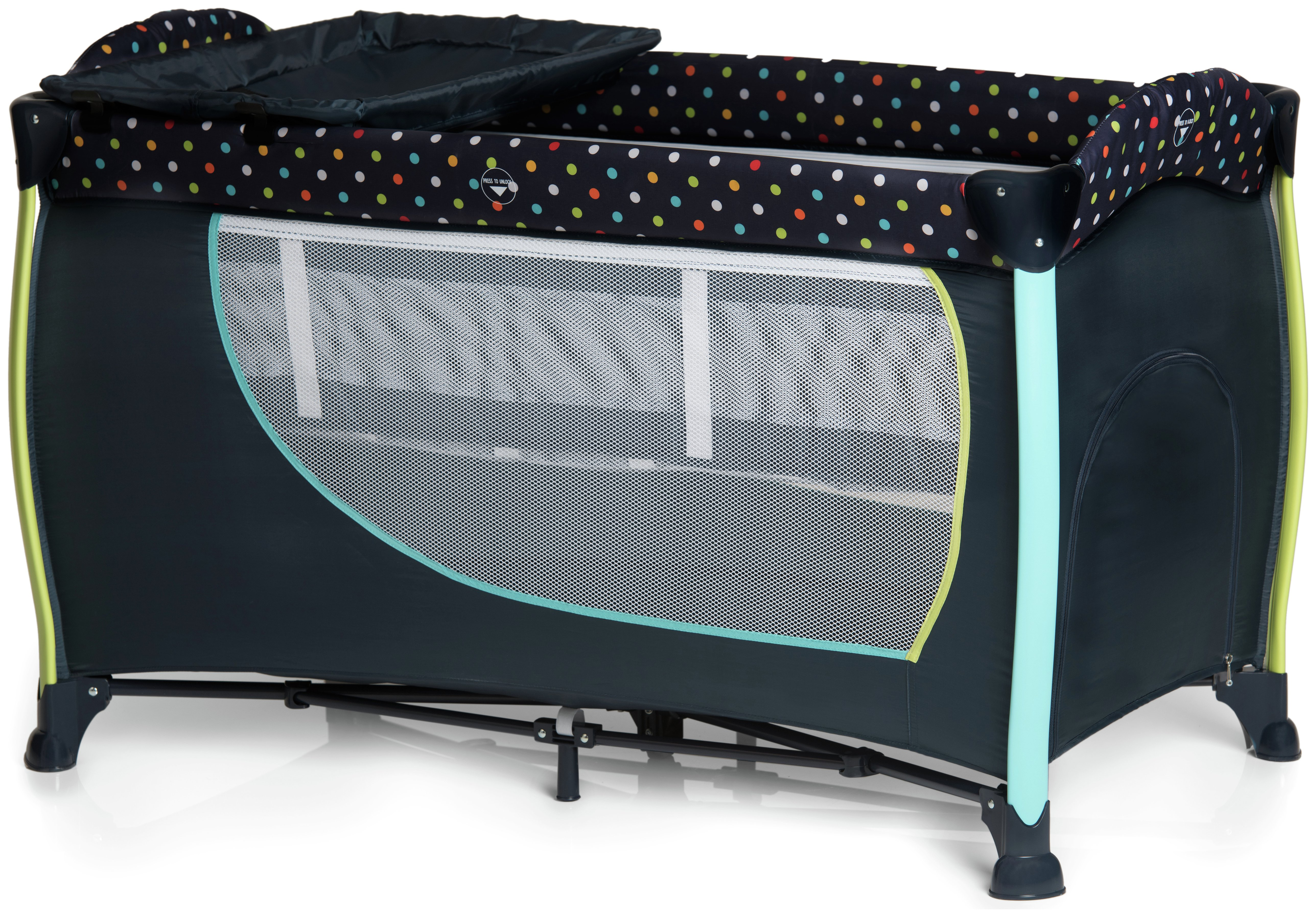 Image of Hauck Sleep 'n' Play Center 2 Multidots Travel Cot