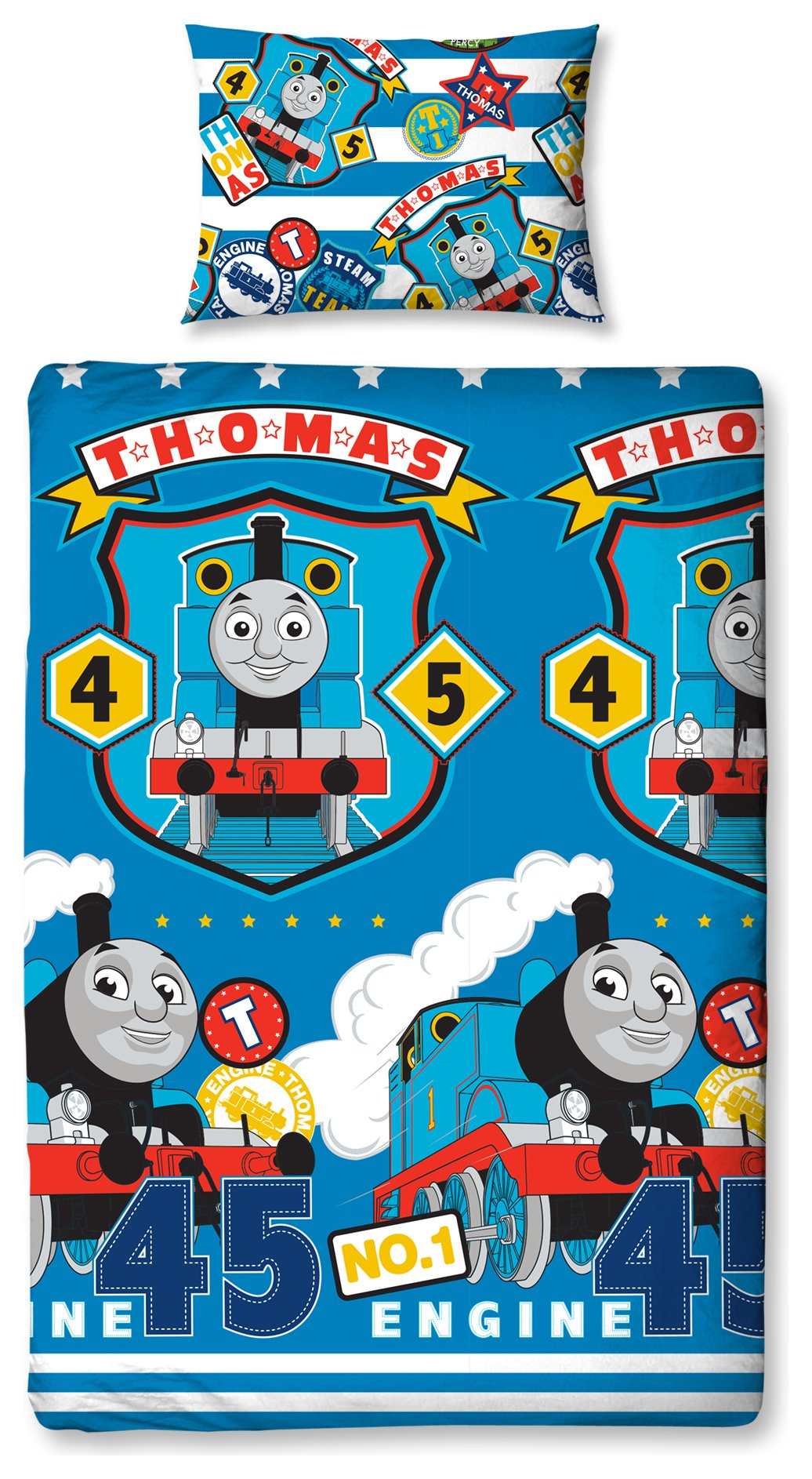 thomas and friends patch bedding set  single