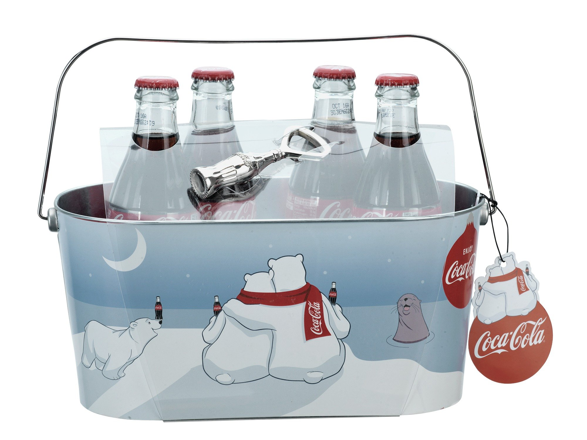 Image of Coca-Cola Oval Ice Bucket and Bottle Opener