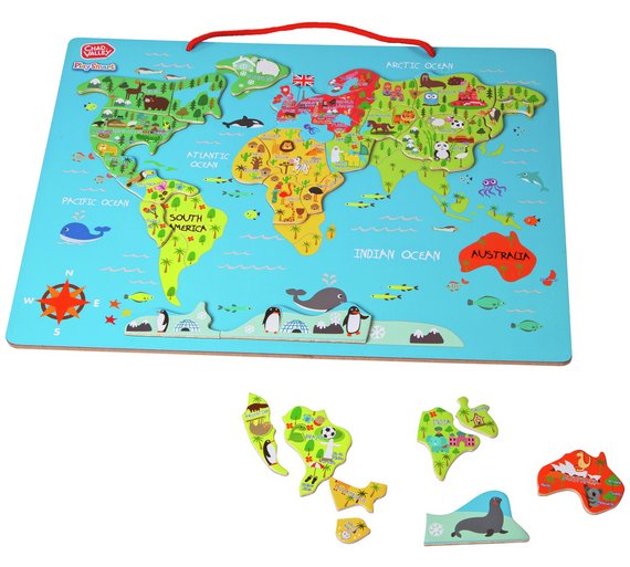 Buy chad valley playsmart magnetic world map 2 for 15 pounds on chad valley playsmart magnetic world map gumiabroncs Choice Image