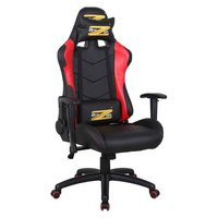 BraZen Shadow Pro PC Gaming Chair - Black and Red.