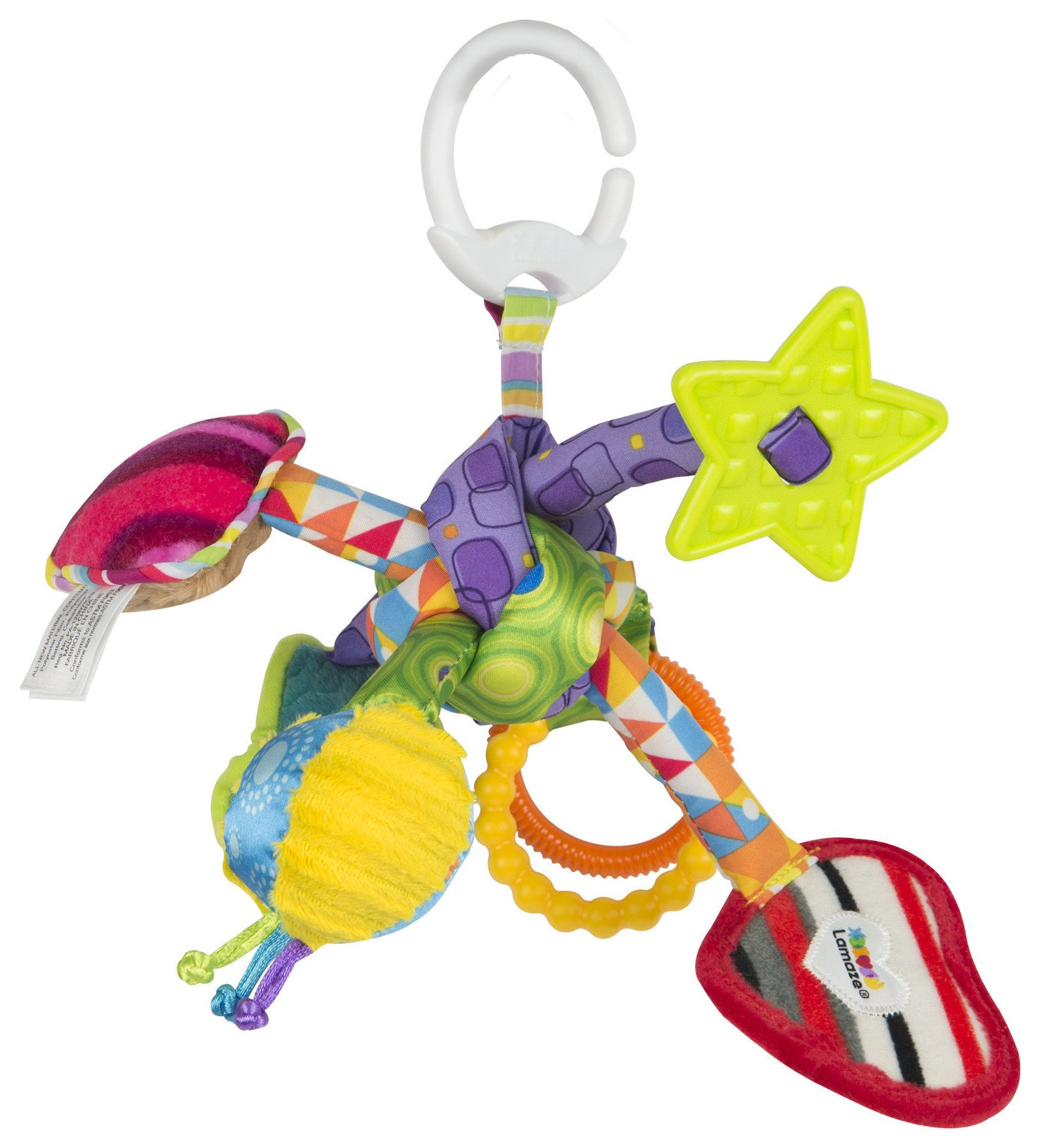 Image of Lamaze Tug and Play Knot On the Go Toy.