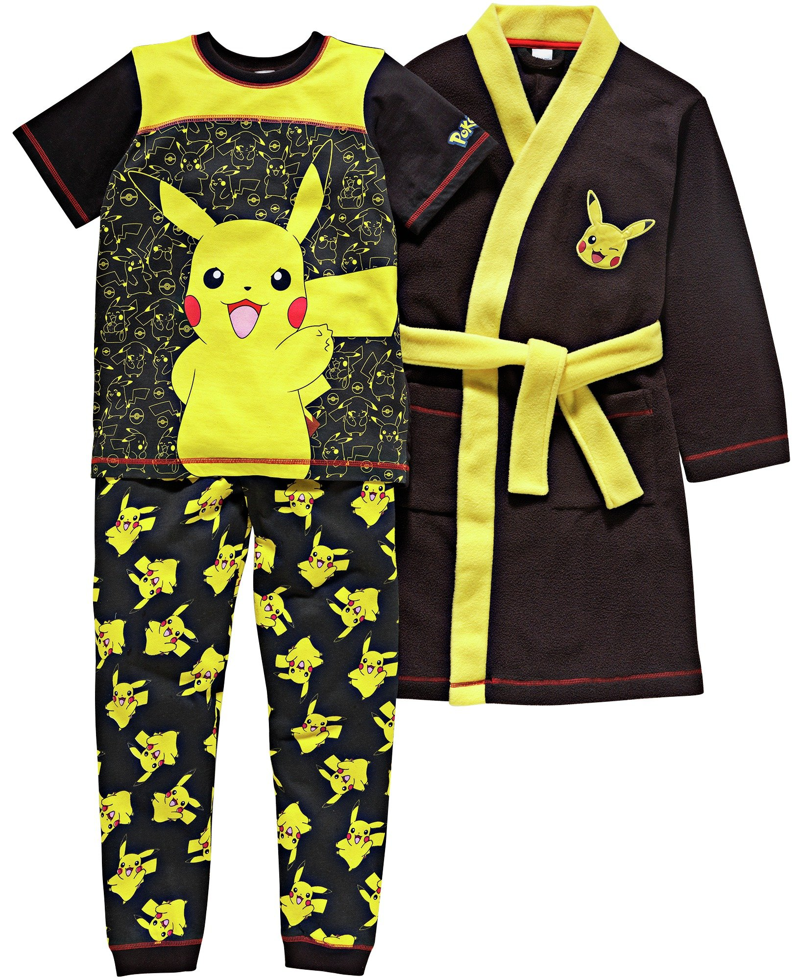 Pokemon Pyjamas and Robe Set - 7-8 Years