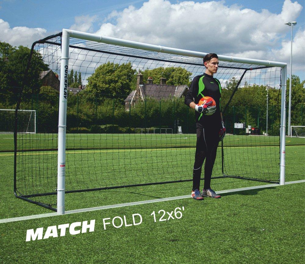 Match Fold 12 x 6ft Football Goal