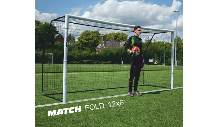 7e5dad0e8 Buy Match Fold 12 x 6ft Football Goal   Kids football   Argos