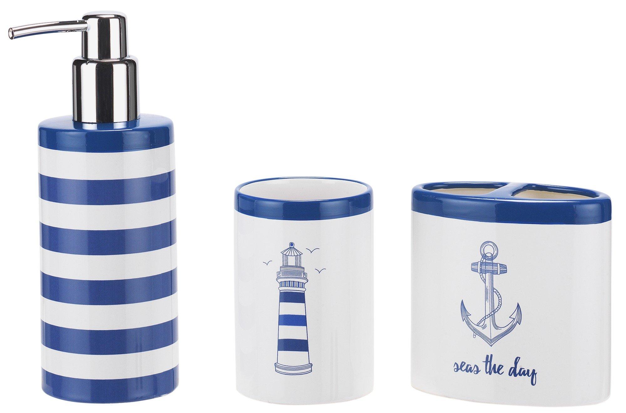 Collection coastal 3 piece accessory set 6985208 argos for Bathroom accessories argos