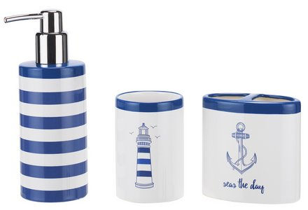 Collection Coastal 3 Piece Accessory Set.