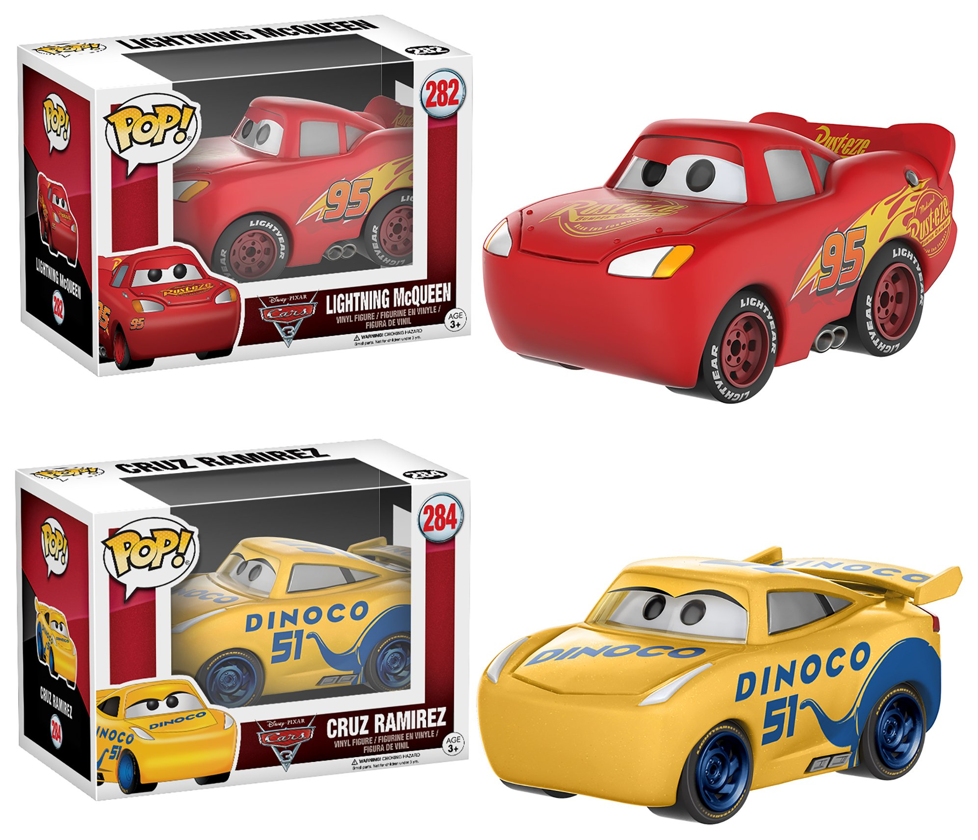 Image of Cars 3 Pop! Vinyl McQueen and Cruz Bobble Head Gift Set