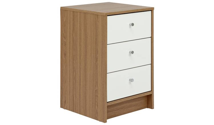 Argos Home Malibu 3 Piece Wardrobe Set - White/ Oak Effect